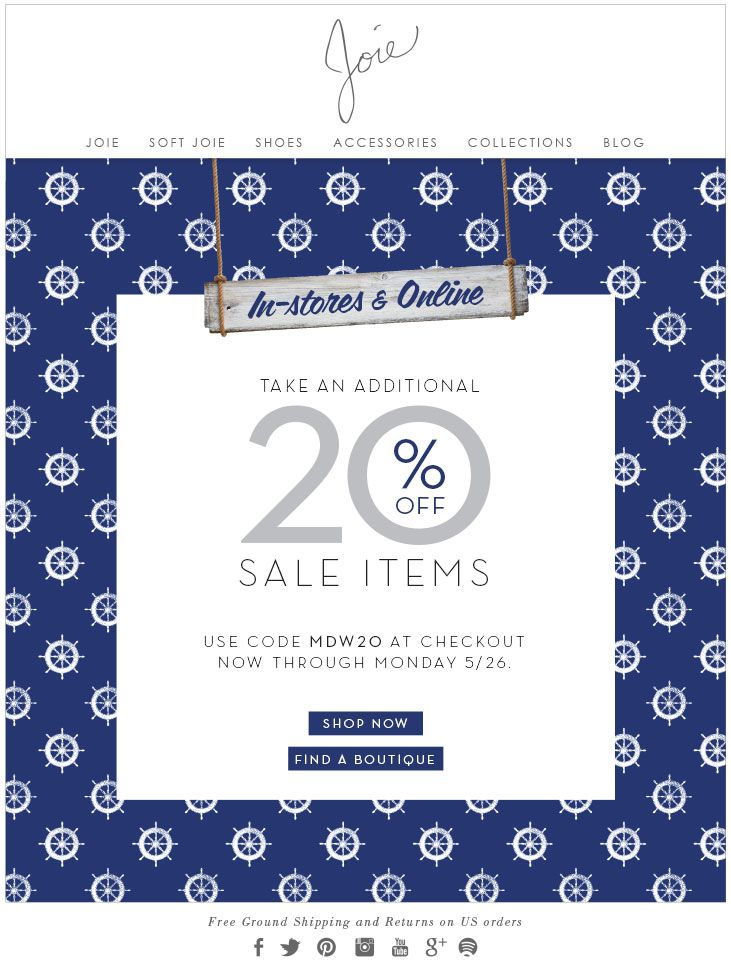 TAKE AN ADDITIONAL 20% OFF SALE ITEMS USE CODE MDW20 AT CHECKOUT NOW THROUGH MONDAY 5/26