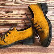 Купить или заказать Туфли валяные в интернет магазине на Ярмарке Мастеров. С доставкой по России и СНГ. Срок изготовления: 5-10 дней. Материалы: натуральная шерсть, подошва ТЭП,…. Размер: 35-40 Размеры 41 и 42 плюс 2000…
