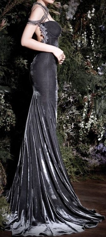 Galia Lahav evening gown fishtail in dramatic grey. Enjoy RUSHWORLD boards, UNPREDICTABLE WOMEN HAUTE COUTURE, WEDDING GOWN HOUND and LULU'S FUNHOUSE. Follow RUSHWORLD! We're on the hunt for everything you'll love! #GaliaLahav #WhatToWear #UnpredictableWomenHauteCouture