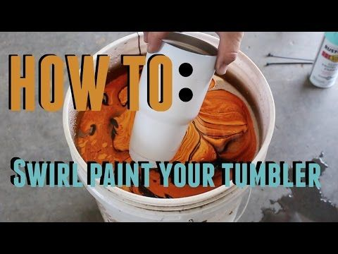DIY - HOW TO SWIRL SPRAY PAINT A YETI OZARK TRAIL REC PRO RAMBLER - YouTube