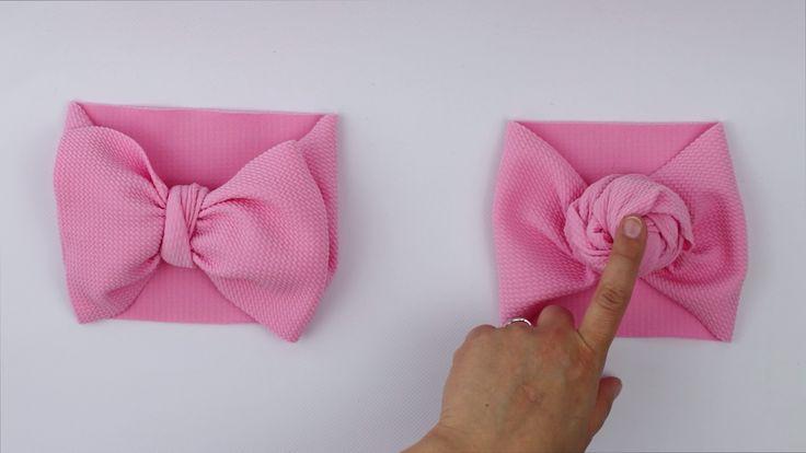 Comment attacher un bandeau Rose DIY | Bandeaux bébé bricolage