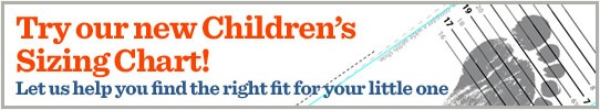 This is awesome if you buy your kids shoes online. Way to go Zappo's! Click on the ' Children's Sizing Chart' button.