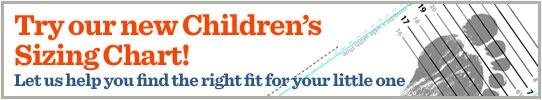 Kids shoe size chart