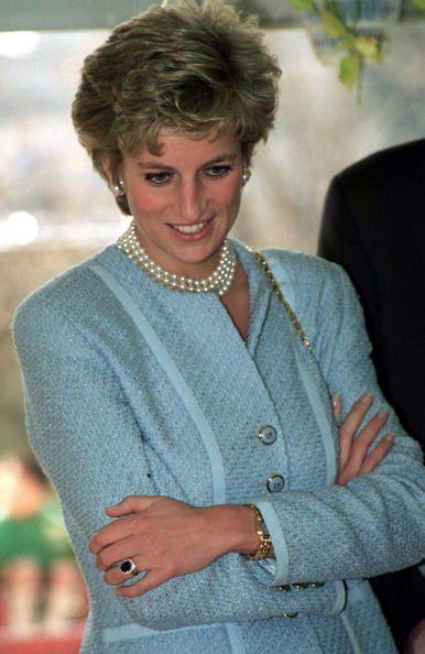 Princess Diana at the Umeda Akebono School in Tokyo, Japan, February 8, 1995.