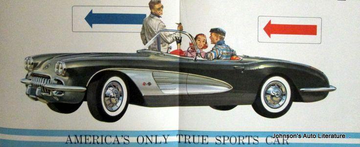 Chevrolet 1958 Corvette Sales Brochure Original