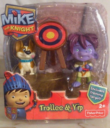 Fisher Price Mike the Knight Trollee and Yip  New in box ages 2+ Fisher Price Mike the Knight Trollee  & Yip. Ages 2+ New purchased for resale by Keywebco Video inspected during shipping Shipped fast and free from the USA The item for sale is pictured and described on this page. The stock photo may include additional items for display purpose only - which will not be included. Packages may show wear or be opened if the battery is replaced or during the inspection…