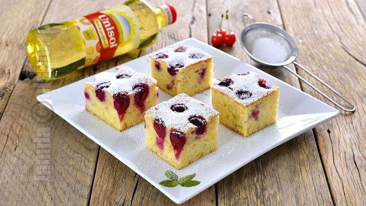 Sour Cherry Sheet Cake (CC Eng Sub) | JamilaCuisine