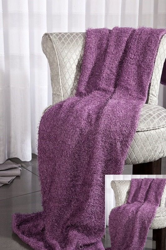 Fioletowe narzuty na kanapy i fotele
