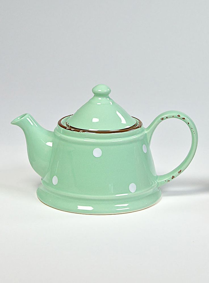 COUNTRY RUSTY GREEN Teapot