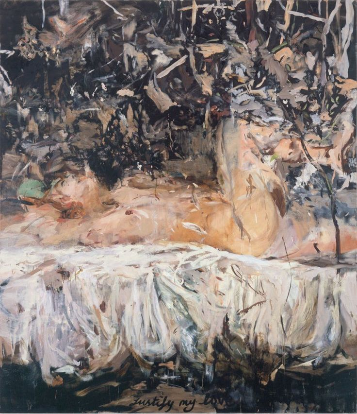 """thunderstruck9: """" Cecily Brown (British, b. 1969), Justify my love, 2004. Oil on linen, 78 x 90 in. """""""