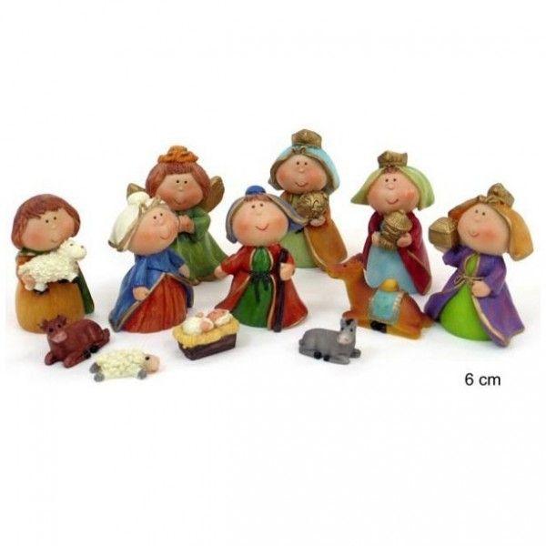 12 figuras nacimiento belen infantil navidad figuras de - Figuras belen infantil ...