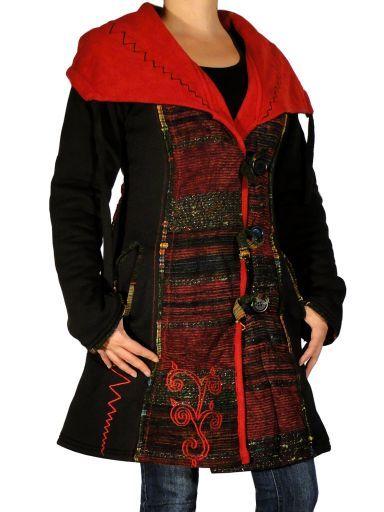 Manteau ethnique chic de la marque Swamee. Frais de port offerts (en France métropole) pour cet article.