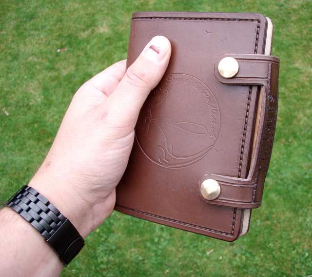 Leather Book Cover Photo Tutorial : Making a leather journal cover tutorial very picture