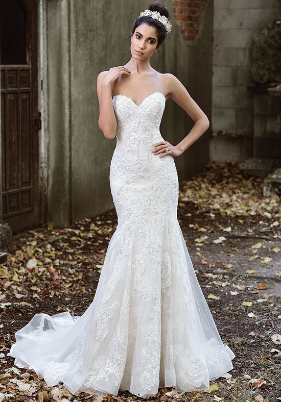 Layered Lace Fit and Flare Wedding Dress | Style 9873 by Justin Alexander |  tri…