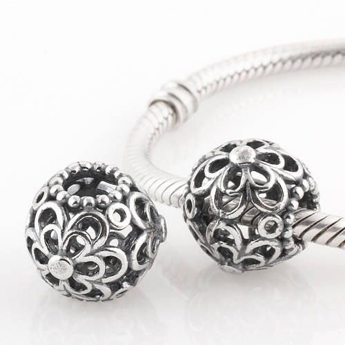50th Birthday Charm Bead - 925 Sterling Silver - Fits Most European Style Charm Bracelets u7yfiQ