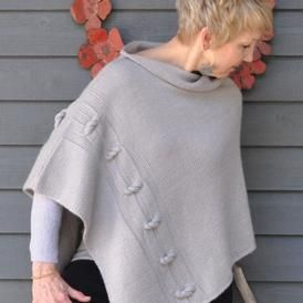 The Knotted Chain Poncho is gorgeous in Knit Picks Gloss DK Yarn. Download the pattern at KnitPicks.com