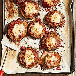 Instead of opting for its fried relative, top your bowl of pasta with baked eggplant Parmesan. This healthy eggplant recipe slims down this classic Italian restaurant order by nearly 600 calories per serving!