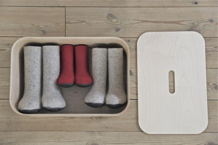 Iittala + Huopikkaat. Vakka plywood stackable storage box.