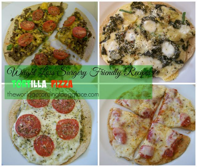 Eggface Weight Loss Surgery #bariatricsurgery Friendly #Lowcarb Tortilla Pizza Recipes