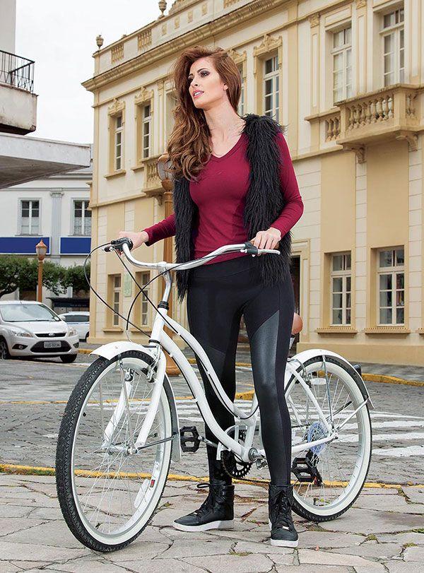 Calça Legging Montaria Cirrê  Brilho Recortes Casual Moda Feminina Rosa Goiaba