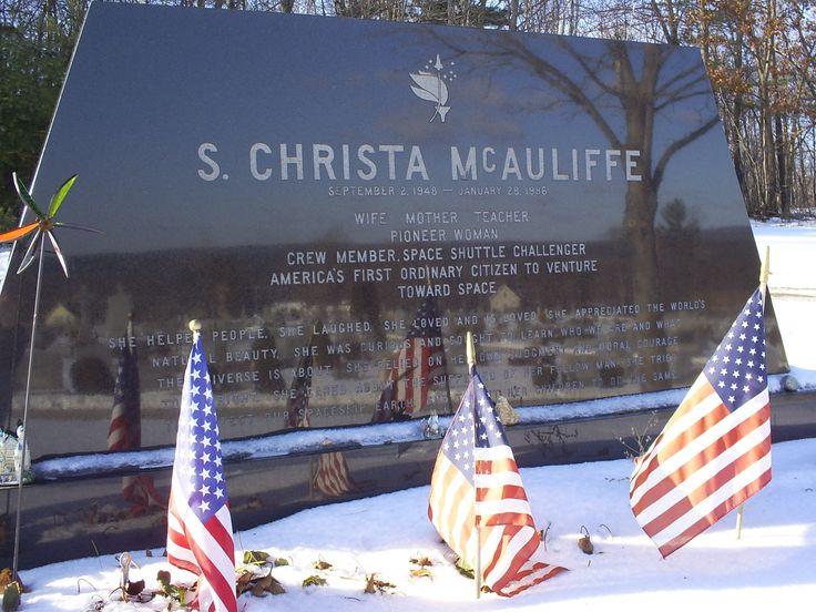 Christa McAuliffe gravestone in Concord,NH