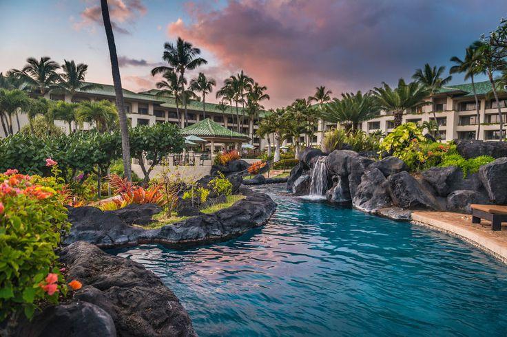 Grand Hyatt Kauai Resort & Spa - pool waterfall