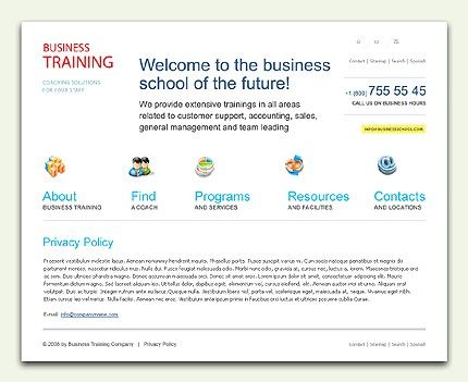 Business Training Website Templates by Raymond