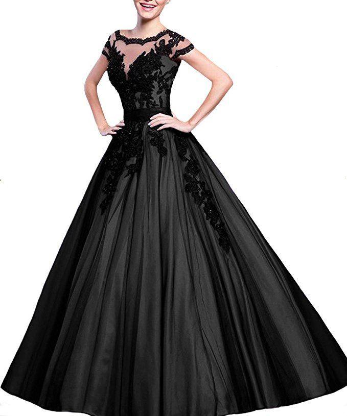 2b741bc39341c2 Prinzessin Ballkleid in schwarz. Das elegante Abendkleid in angesagter A- Linie kann auch als
