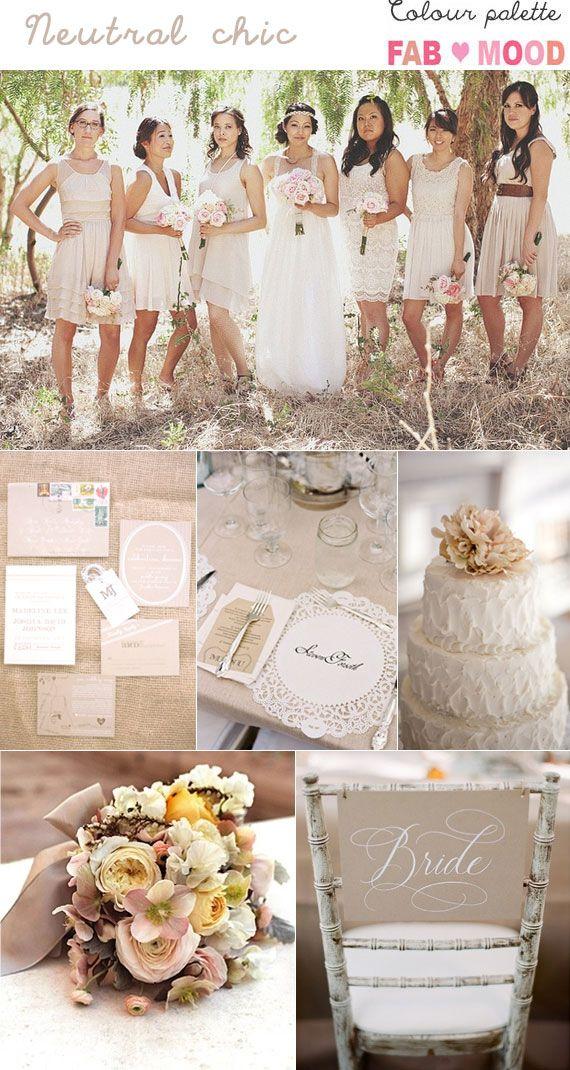 neutral wedding colour mood board    fabmood.com
