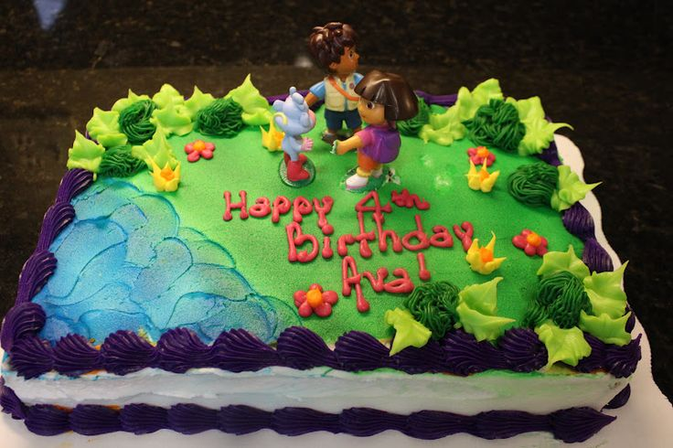 Dora Cake Toppers Walmart And Cupcakes Dark Red