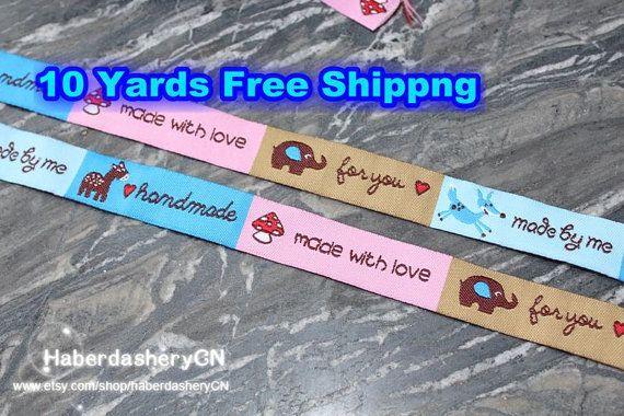 10 yards LB233 gewebte Jacquard Ribbon Wonderfull nähen Label - anderes Design
