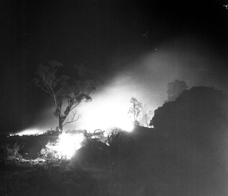 1955 Bush Fire in Mildura. VicRoads Centenary 1913-2013. www.vicroads.vic.gov.au/centenary