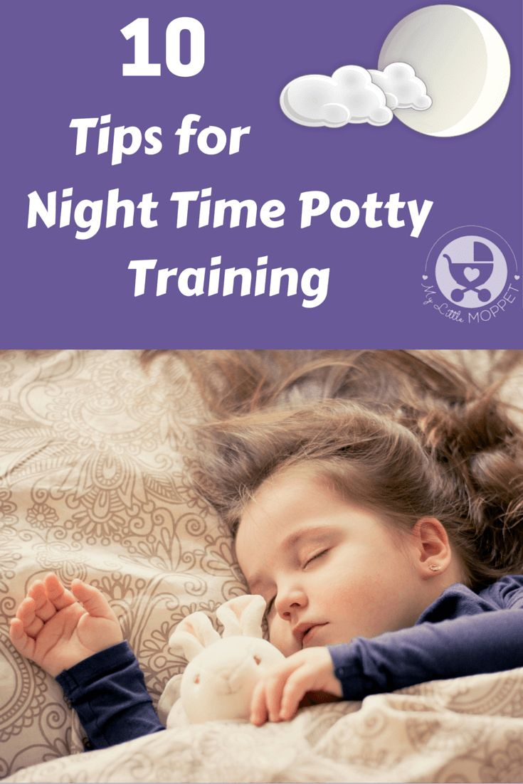 how to toilet train a boy at night time