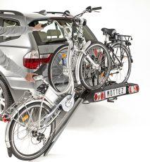 Porte-vélo plateforme, basculable sur attelage 100% monté, spécial vélos électriques (2) Mottez A023P2ELEC 303€