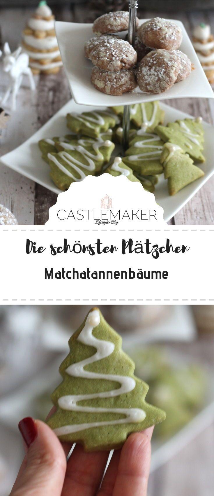 Plätzchenrezepte: Matcha-Tannenbäumchen und Schoko-Busserl