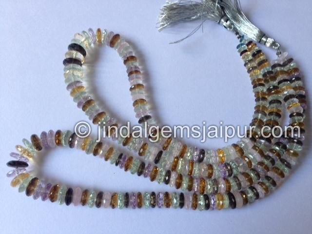 Multi Stone German Cut Gemstone Beads.