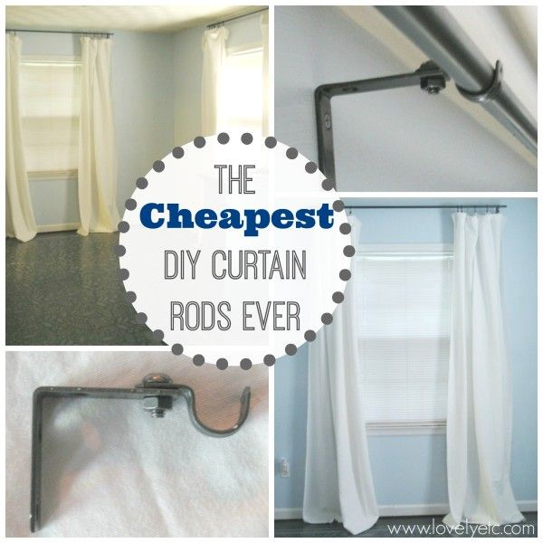 The Cheapest Diy Curtain Rods Ever Diy Ideas Diy Curtains Diy