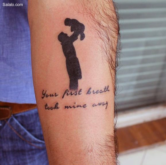 Tattoo His Name Quotes: Top 50 Best Father Son Tattoos For Men