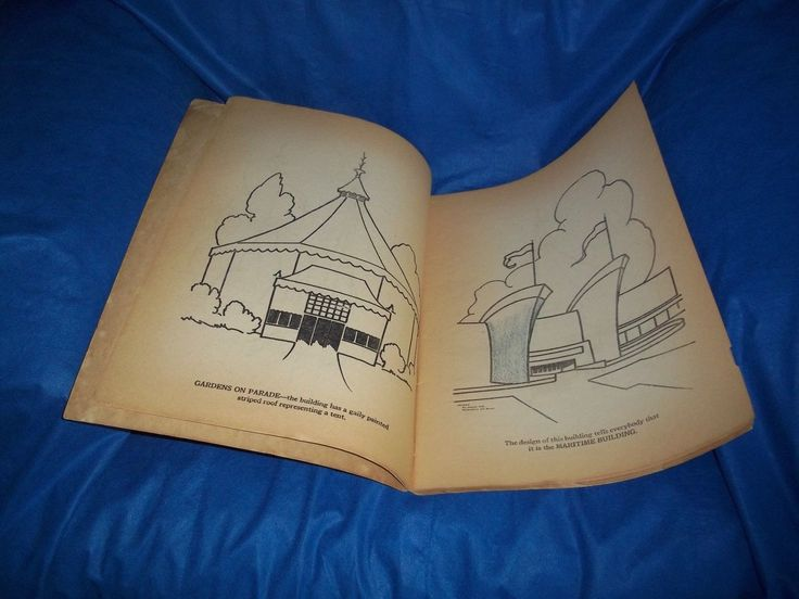 Vintage 1939 New York Worlds Fair 11 X 15 1 4 Coloring Book