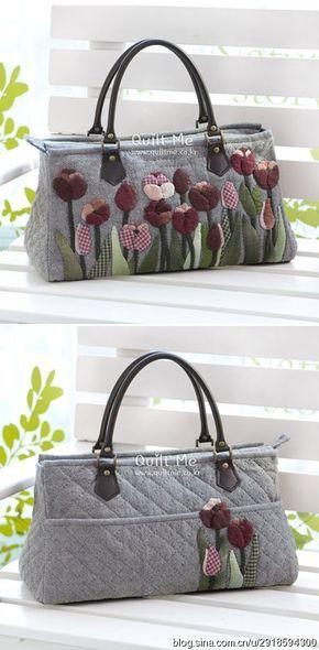 [Reservado] [] sombra pintado tulipanes púrpuras versión horizontal del bolso <WBR> Dibujos