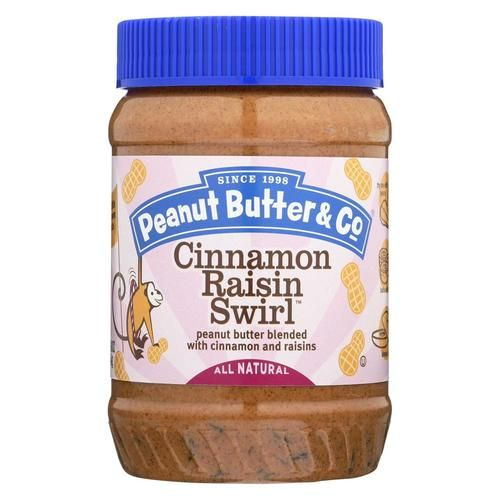 Peanut Butter And Co Peanut Butter - Cinnamon Raisin Swirl - Case Of 6 - 16 Oz.
