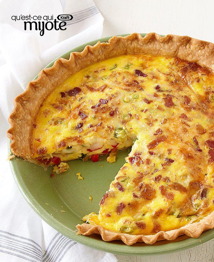 Quiche au fromage et au bacon #recette