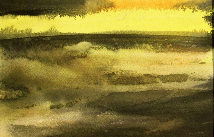 """""""Lys"""", sidste billede i udsmykningen Istid & Nutid i Egebjerg Mølles Naturrum."""