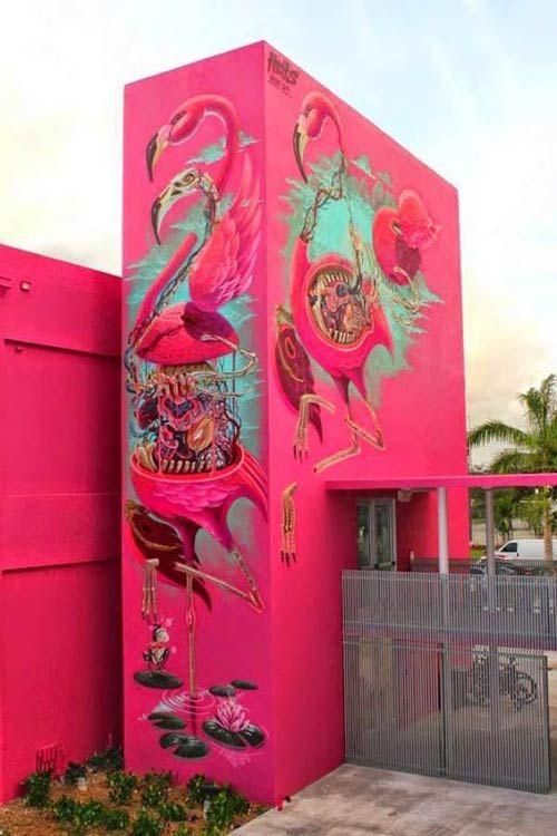 Street art in Miami, USA by Austrian artist Nychos for Art Basel (Photo by StreetArtNews)