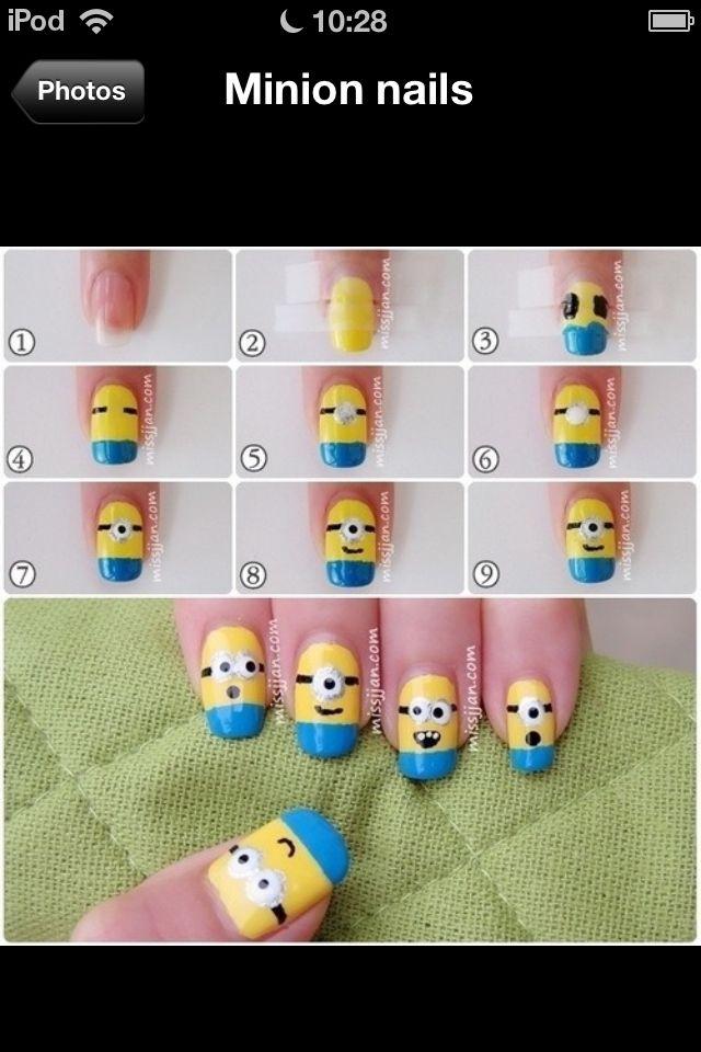 DIY Minion Nails Art -