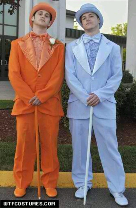 Dumb and Dumber tuxes for Halloween!!!!!!