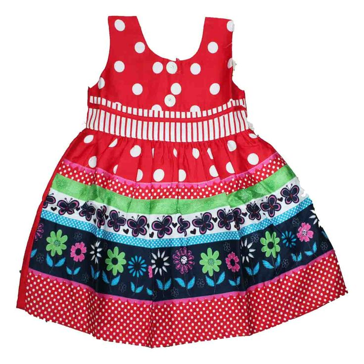 Colourful cotton frock  size : 1 year - 4 year Prince : 425 Free shipping all over India Whatsapp: +91-9629187349  http://www.princenprincess.in/index.php/home/product/372/Red%20cotton%20frock%20with%20white%20dot%20design