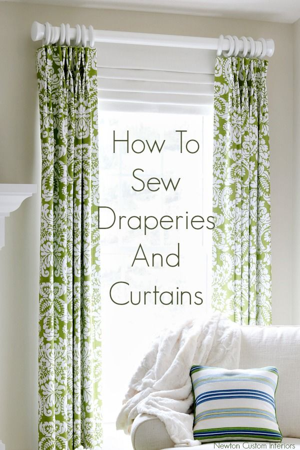 Learn how to sew draperies and curtains to give your home a custom look! Make window treatments that will fit your windows, and in the fabric you love!