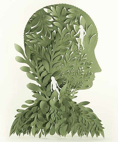 I love paper cut illustrations. This one is beautiful. I'm guessing that this is elsa mora... but I haven't checked the link.
