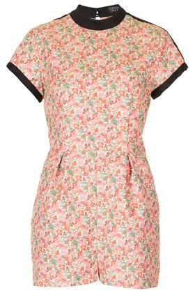 Ditsy Cutout Playsuit
